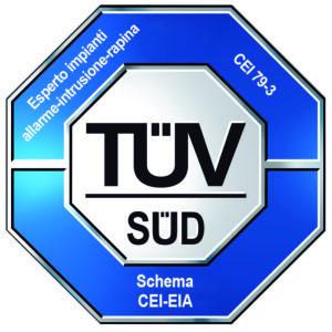 TUV SUD C28EIA certificazione esperto impianti allarme-intrusione-rapina