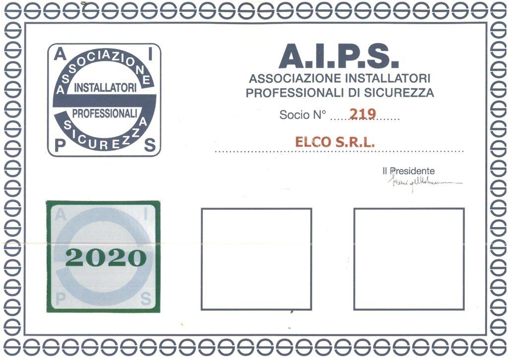 certificato associazione AIPS